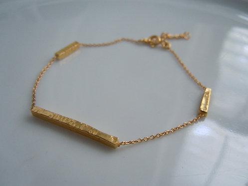 Triple Bar Gold Bracelet