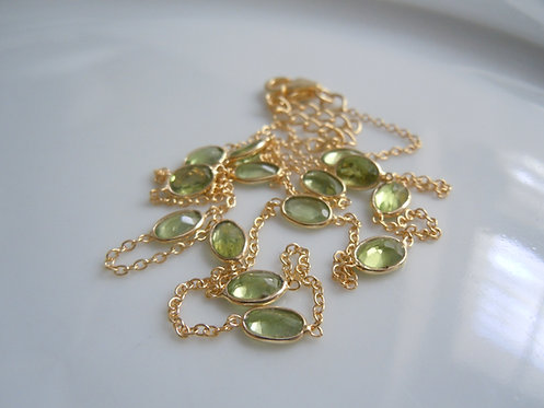 Peridot Bezel-set Necklace