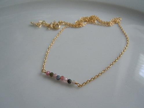 Delicate Tourmaline Gemstone Necklace