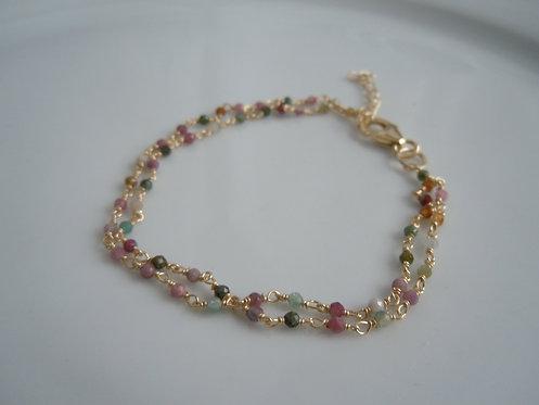 Tourmaline Double Strand Bracelet