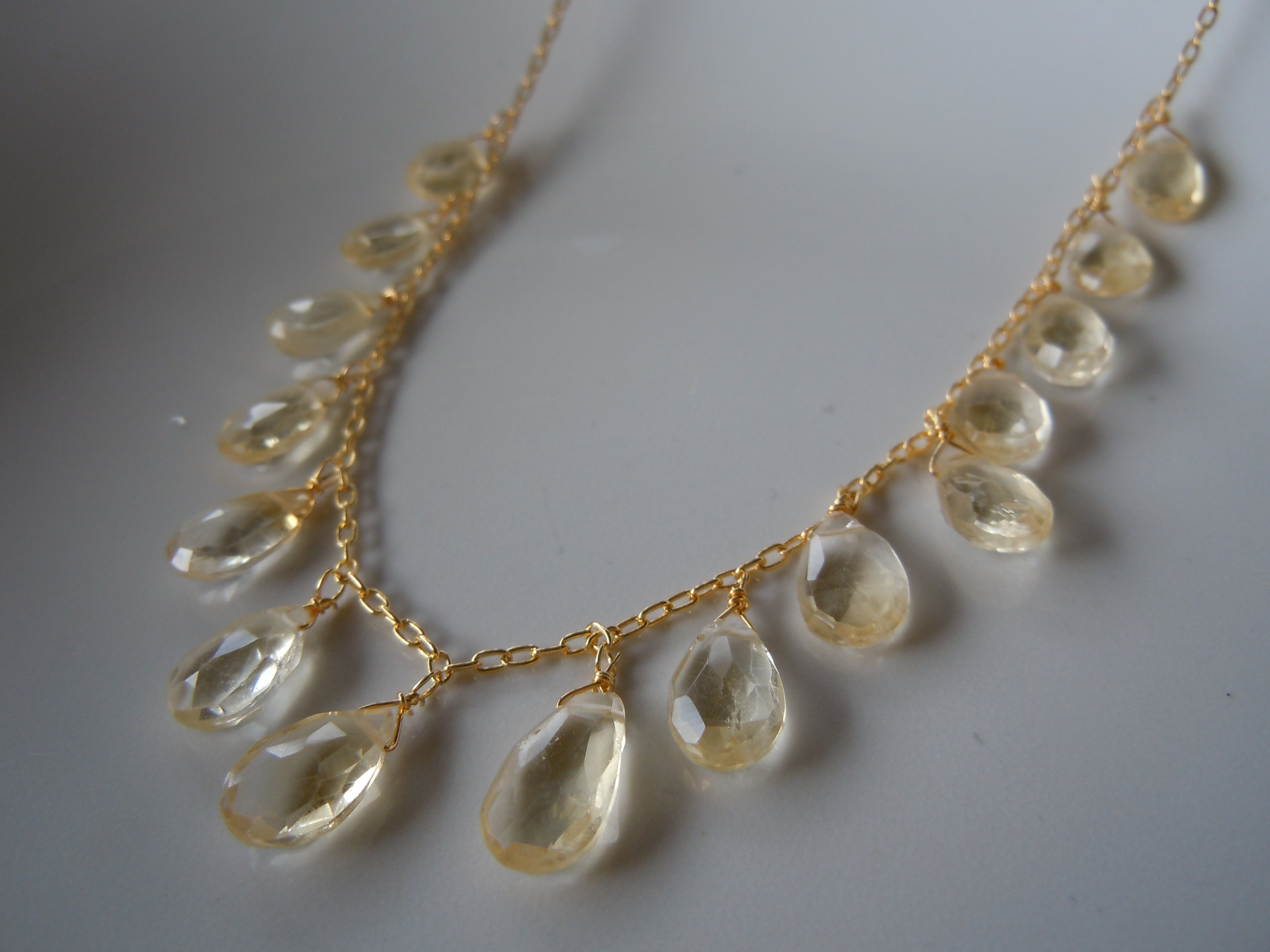 Faceted Citrine Necklace