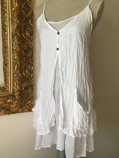 Short Coco Dress White