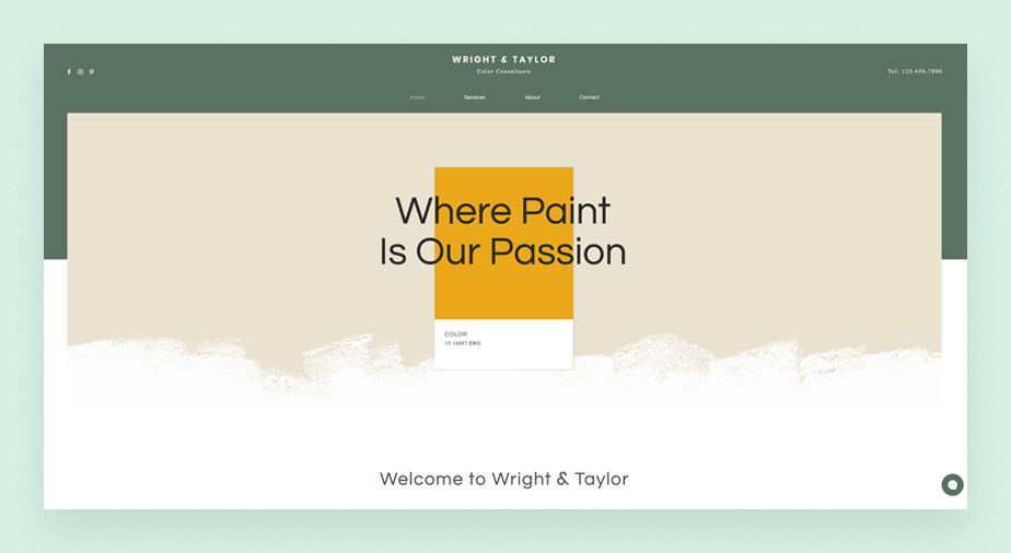 House painter service business website template