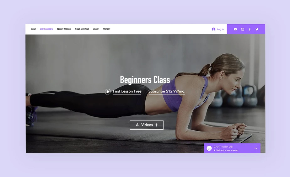 An online exercise course to monetize your website