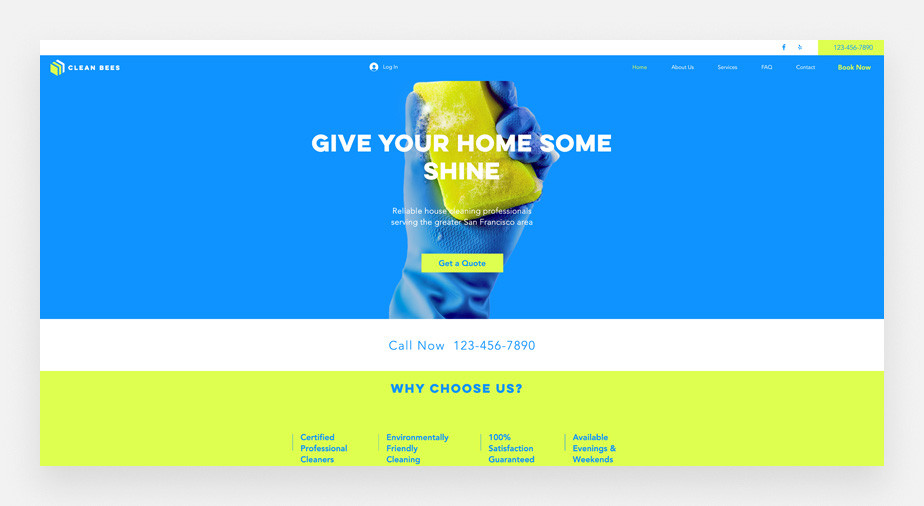 Cleaning service business website template