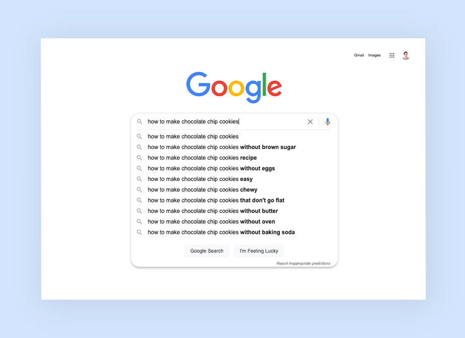 Refine your keyword search online