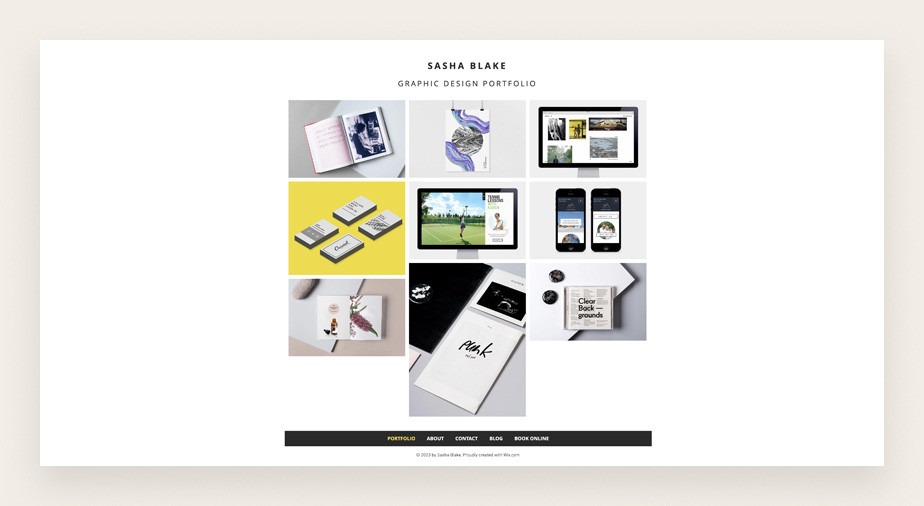 Graphic designer service business web template