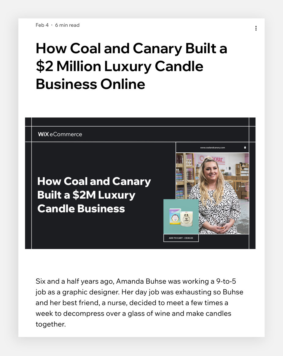 Case study blog post template