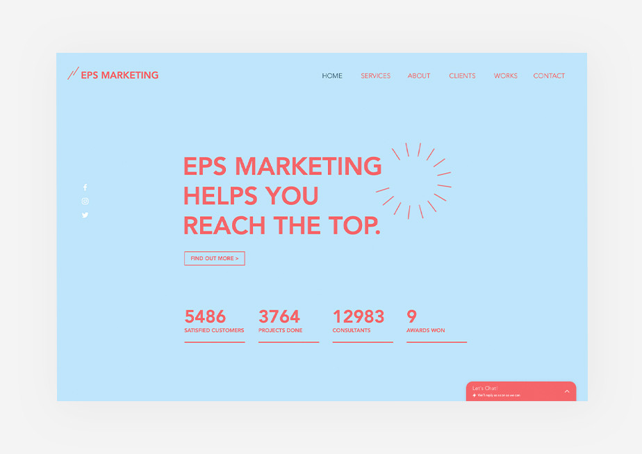Marketing firm template