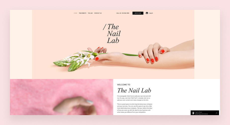 Nail service business website template