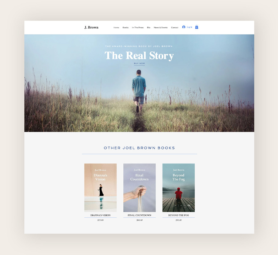Bestselling author website template