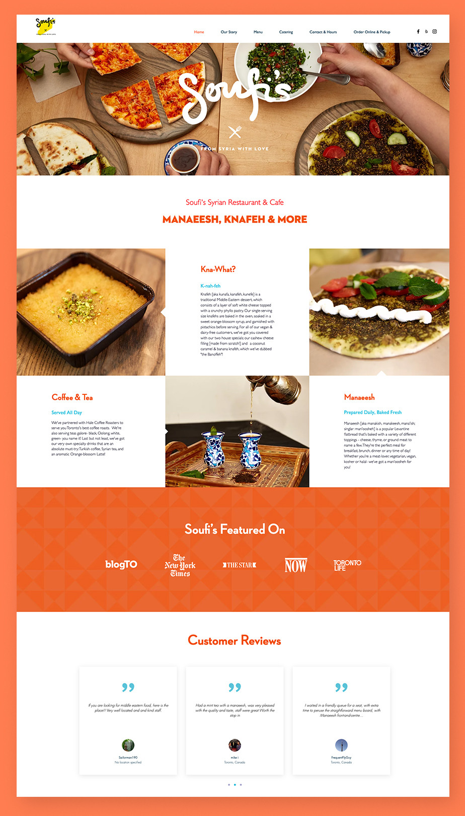Soufi's restaurant website