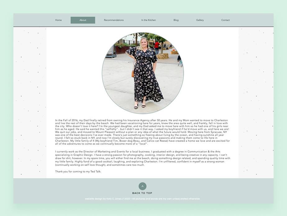 Katy Jones personal blog