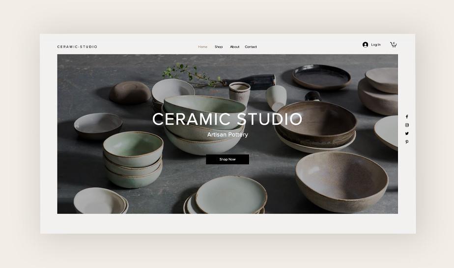 Ceramic studio template