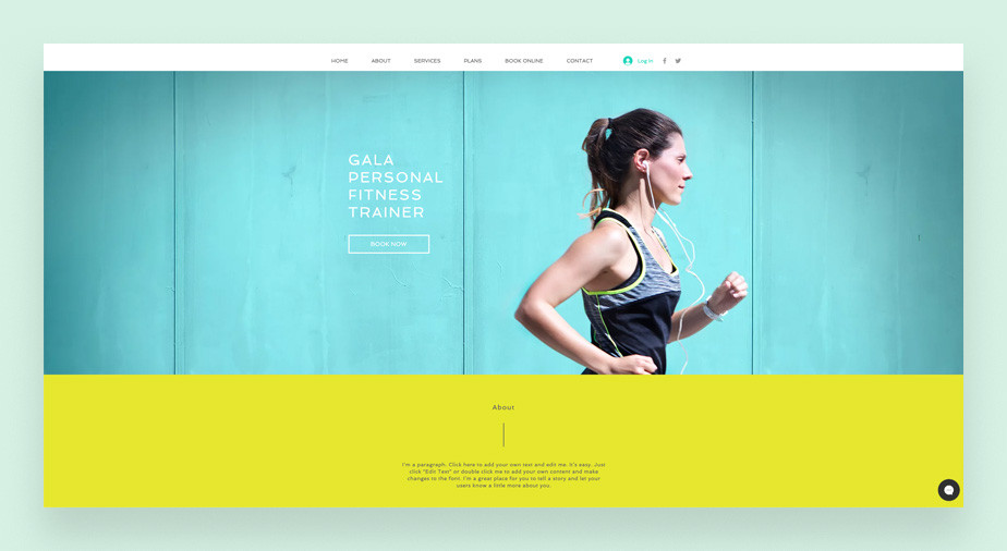 Fitness trainer service business website template