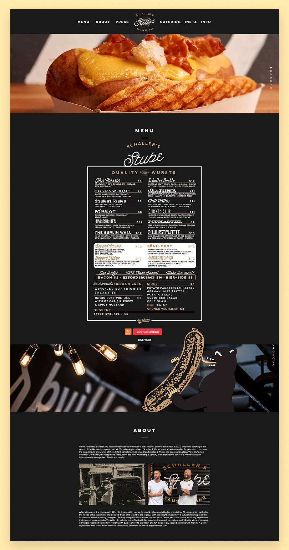 Schaller's Stube restaurant website