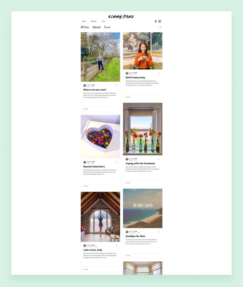 Kimmy Pang personal blog