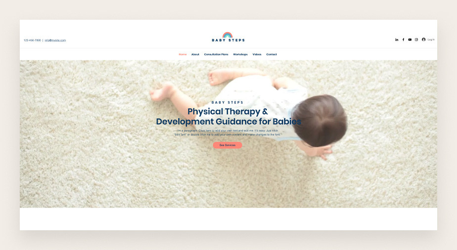 Baby consultant service business web template