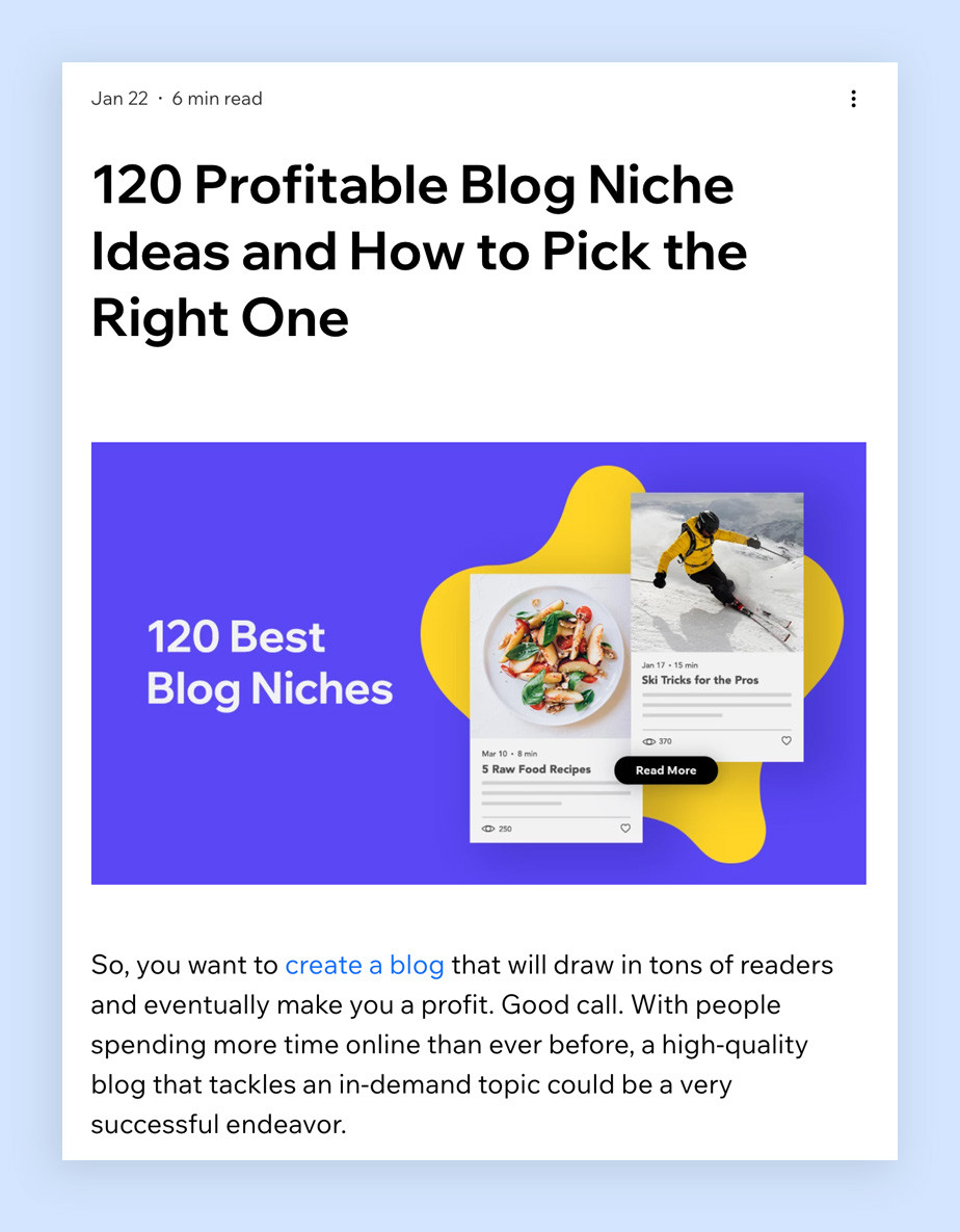 Listicle blog post template