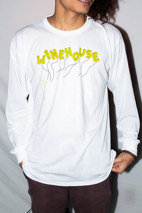 The Balloon Boy Long Sleeve White