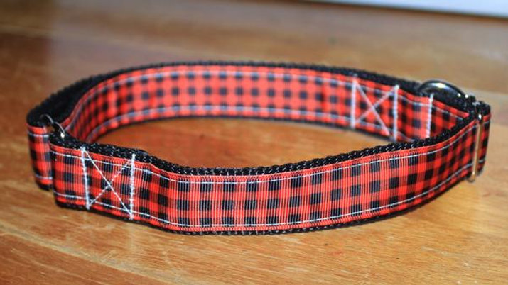 RED PLAID Plastic Buckle