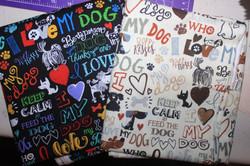 I Love my dog - Cream & Black