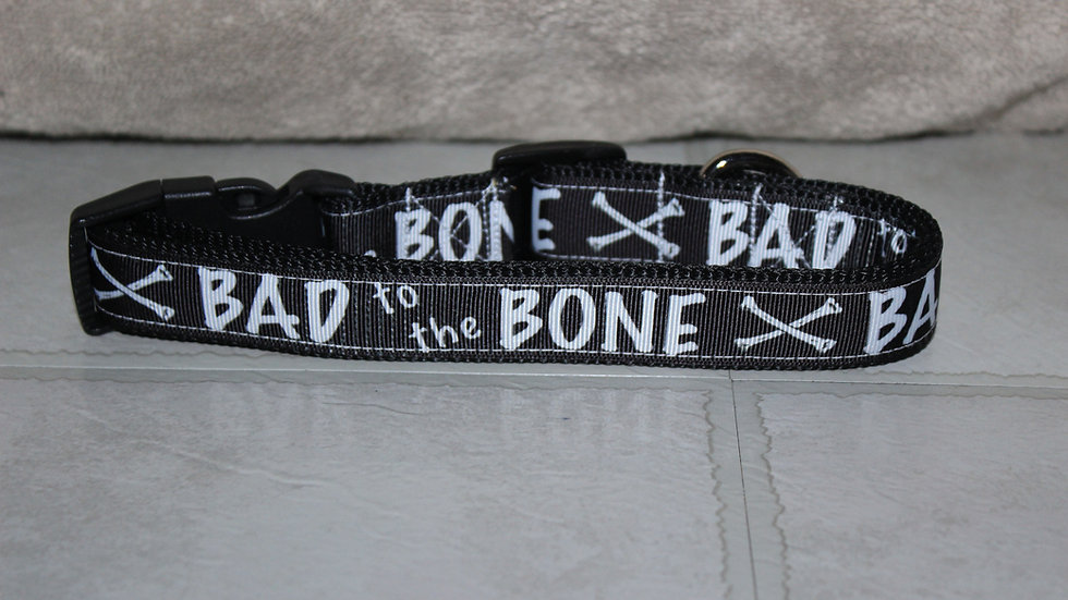 BAD TO THE BONE Plastic Buckle