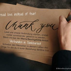 """Aktion """"Verbunden in Dankbarkeit"""""""