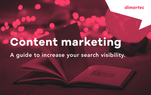 Content marketing guide to increase your search visibility.