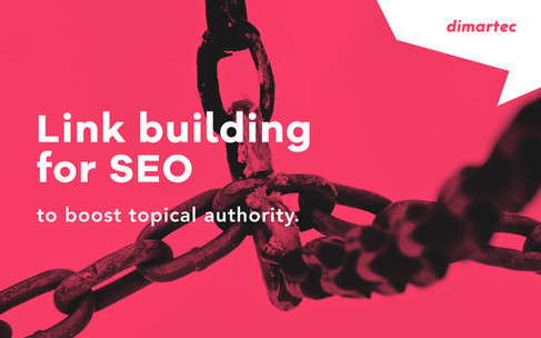 Link building for SEO.