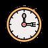 pictograma reloj macecillas cuchara y tenedor
