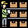 pictograma almacén apilado almacenista