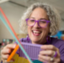 Portrait of innovative basketry artist Emily Dvorin in her Sausalito studio.