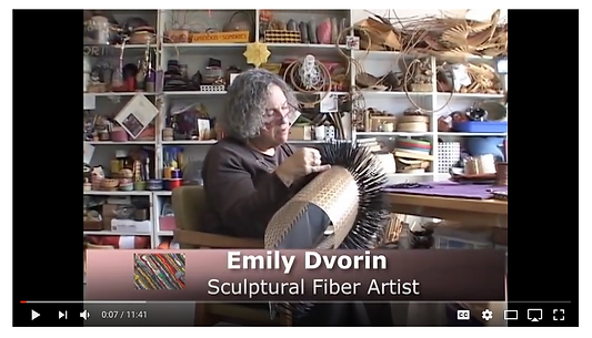 Contemporary basketry artist Emily Dvorin invites you to her studio in this video visit.