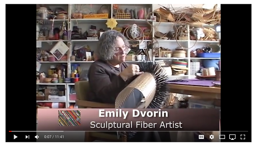 Enjoy a video studio visit and interview with contemporary basketry artist Emily Dvorin.