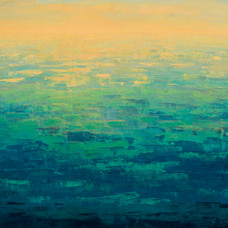 Gold Haze on Green Pacific, 2017