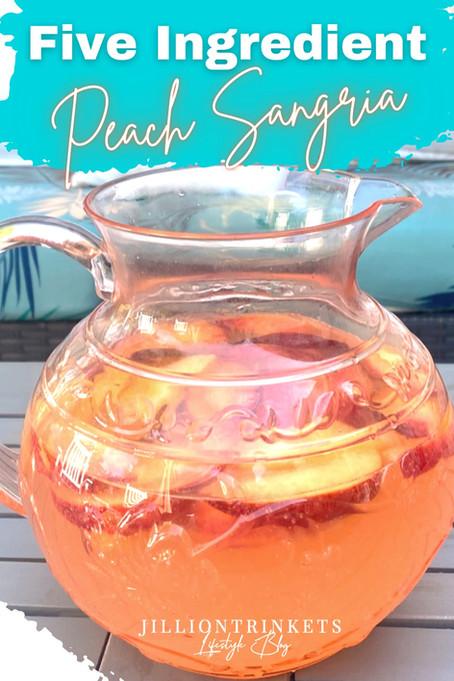 5- Ingredient Peach Sangria