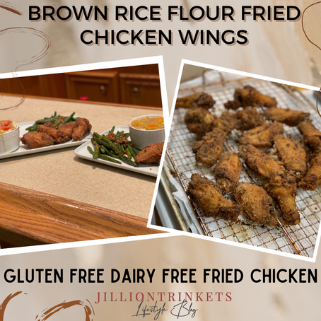 Brown Rice Flour Fried Chicken Wings