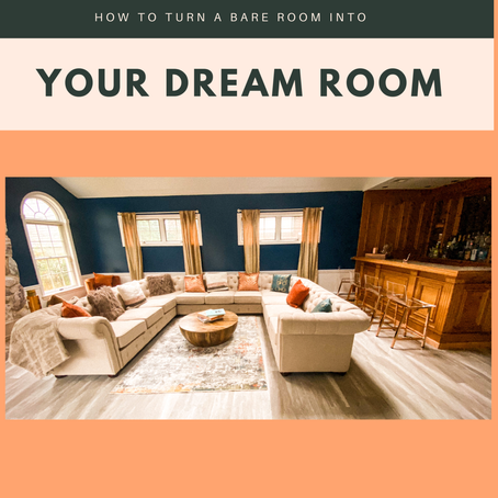 How to turn a Bare Room Into your Dream Room