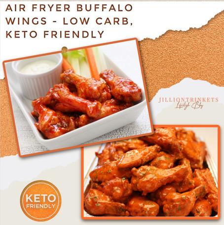 AIR FRYER BUFFALO WINGS - LOW CARB, KETO FRIENDLY