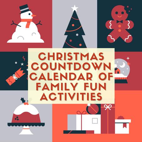 Christmas Countdown Calendar of Family Fun Activities