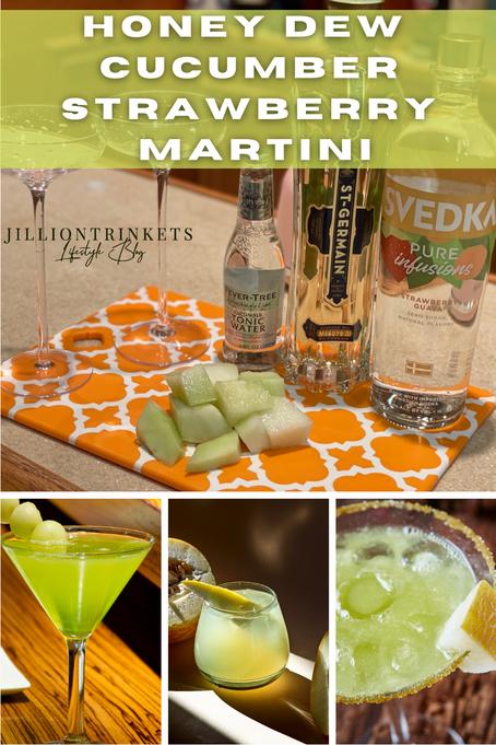 Honeydew Cucumber Strawberry Martini