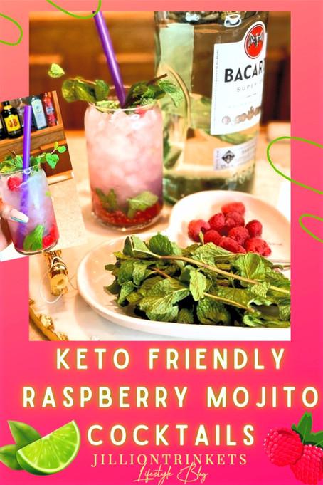 KETO FRIENDLY RASPBERRY MOJITO COCKTAILS