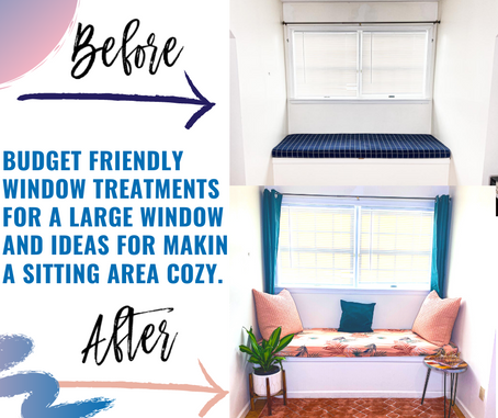 BUDGET FRIENDLY WINDOW TREATMENTS FOR A LARGE WINDOW TREATMENT