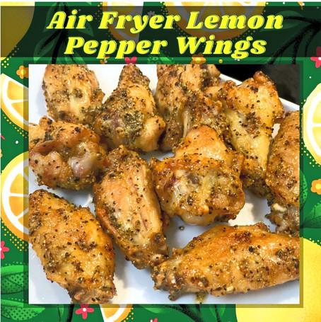 Air Fryer Lemon Peppers Wings