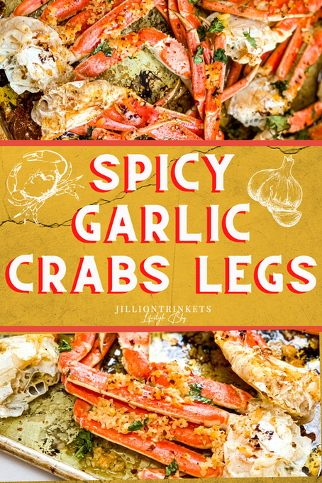 Spicy Garlic Crabs Legs