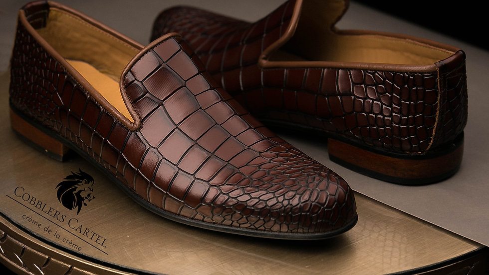 Reptile Loafers
