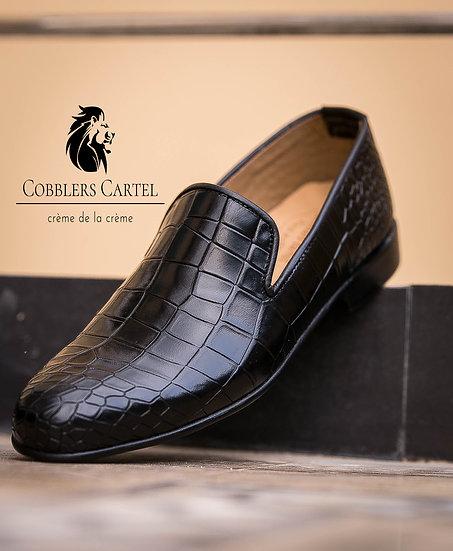 Black Reptile Loafer