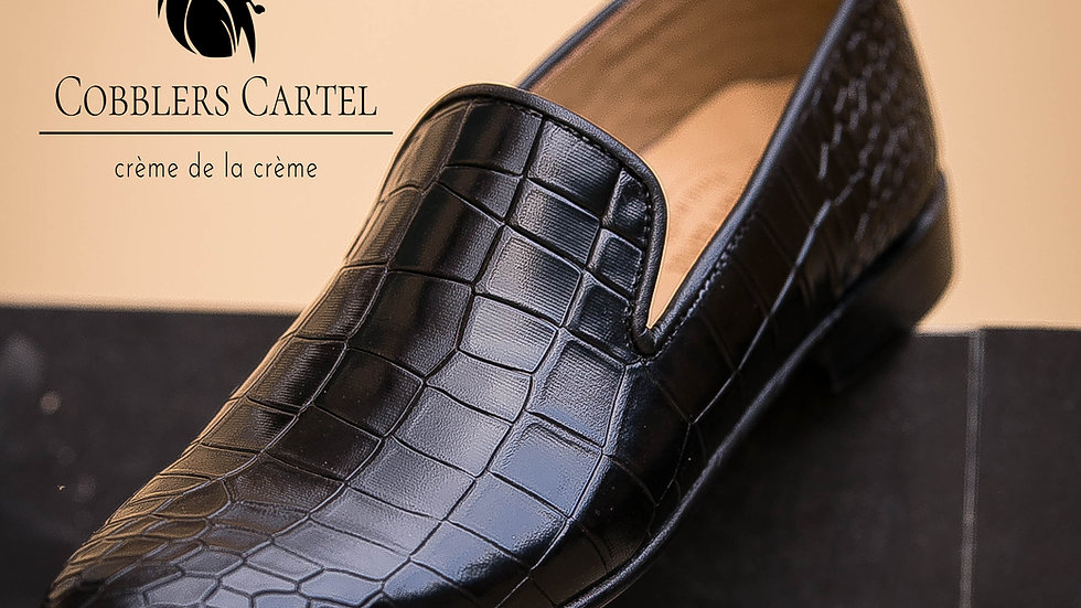 Black Reptile Loafer