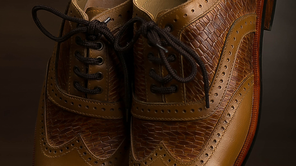 MUSTARD PLAIN BROGUE